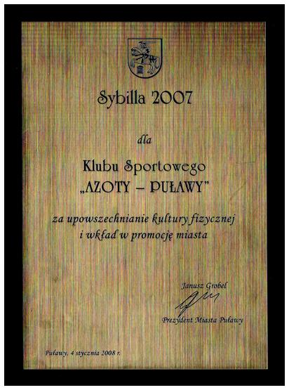 Sybilla 2007 klub